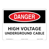 Danger/High Voltage Sign (OS1070DH-)
