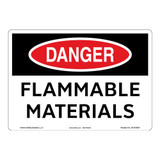 Danger/Flammable Materials Sign (OS1075DH-)
