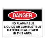 Danger/No Flammable Liquids Sign (OS1078DH-)