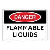 Danger/Flammable Liquids Sign (OS1080DH-)