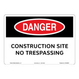 Danger/Construction Site Sign (OS1083DH-)