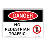Danger/No Pedestrian Traffic Sign (OS1091DH-)