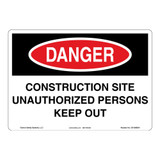 Danger/Construction Site Sign (OS1096DH-)