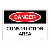Danger/Construction Area Sign (OS1097DH-)