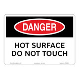 Danger/Hot Surface Sign (OS1099DH-)