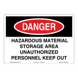 Danger/Hazardous Material Sign (OS1100DH-)