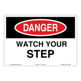Danger/Watch Your Step Sign (OS1114DH-)