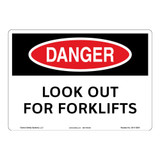 Danger/Look Out for Forklifts Sign (OS1115DH-)