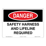 Danger/Safety Harness Sign (OS1117DH-)