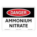 Danger/Ammonium Nitrate Sign (OS1122DH-)