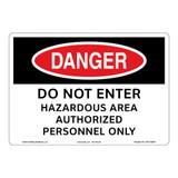 Danger/Do Not Enter Sign (OS1125DH-)