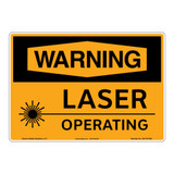 Warning/Laser Operating Sign (OS1131WH-)