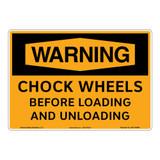 Warning/Chock Wheels Sign (OS1144WH-)