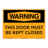 Warning/Door Closed Sign (OS1145WH-)