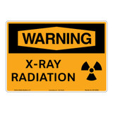Warning/X-Ray Radiation Sign (OS1148WH-)