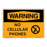 Warning/No Cellular Phones Sign (OS1149WH-)