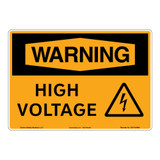 Warning/High Voltage Sign (OS1154WH-)
