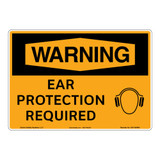 Warning/Ear Protection Sign (OS1155WH-)
