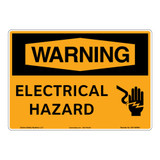 Warning/Electrical Hazard Sign (OS1156WH-)