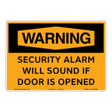 Warning/Security Alarm Sign (OS1162WH-)