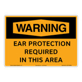 Warning/Ear Protection Sign (OS1165WH-)