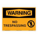 Warning/No Trespassing Sign (OS1167WH-)