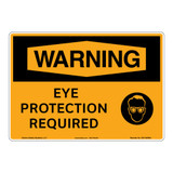 Warning/Eye Protection Required Sign (OS1169WH-)