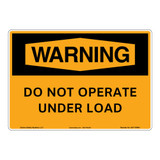 Warning/Do Not Operate Sign (OS1176WH-)