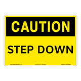 Caution/Step Down Sign (OS1184CH-)