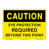 Caution/Eye Protection Required Sign (OS1188CH-)