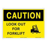 Caution/Look Out for Forklift Sign (OS1189CH-)