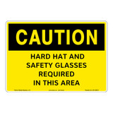 Caution/Hard Hat and Safety Glasses Sign (OS1196CH-)