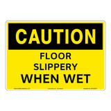 Caution/Slippery When Wet Sign (OS1202CH-)