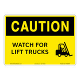 Caution/Watch for Lift Trucks Sign (OS1206CH-)