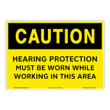 Caution/Hearing Protection Sign (OS1213CH-)