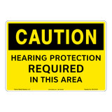 Caution/Hearing Protection Required Sign (OS1214CH-)