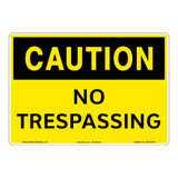 Caution/No Trespassing Sign (OS1216CH-)