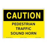 Caution/Pedestrian Traffic Sign (OS1220CH-)