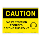 Caution/Ear Protection Required Sign (OS1223CH-)