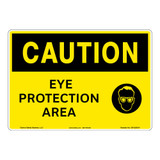 Caution/Eye Protection Area Sign (OS1225CH-)