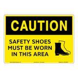 Caution/Safety Shoes Sign (OS1229CH-)