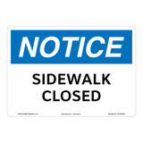 Notice/Sidewalk Closed Sign (OS1237NH-)