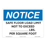 Notice/Safe Floor Load Sign (OS1239NH-)
