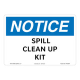 Notice/Spill Clean Up Kit Sign (OS1242NH-)