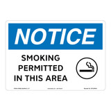 Notice/Smoking Permitted Sign (OS1244NH-)