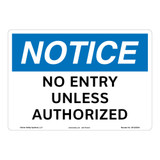 Notice/No Entry Sign (OS1252NH-)