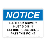 Notice/All Drivers Must Sign In Sign (OS1264NH-)