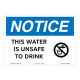 Notice/Unsafe Water Sign (OS1269NH-)
