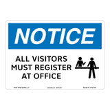 Notice/All Visitors Must Register Sign (OS1272NH-)