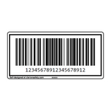 Custom CODE128 Barcode Label